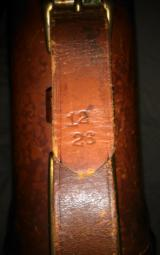 Abercrombie&Fitch leg of mutton leather takedown case ' rare and hard to find - 14 of 15