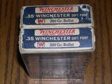 Two boxesof 35 winchester ammo for 1895 rifle