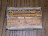 Two pc Old Box of 35 WCF caliber for 1895 rifle