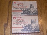 two 20 ct pictureboxes of 405 win ammo