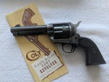 Colt 2nd Gen SAA .38 Special Original Black Box Factory Letter
