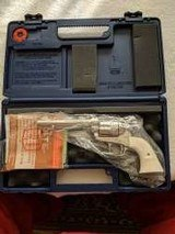 "Colt SAA 3rd Gen Nickel Plated 5 1/2"" .38-40 w/Ivory grips NIB"