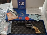 Colt SAA 3rd Gen Custom Shop 5 1/2 inch Blue .32-20 Like NIB 2005 Stag Grips - 1 of 8