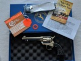 Colt 3rd Gen Custom Shop Frontier Six Shooter, Nickel plated, NIB 2010 Black Powder Frame