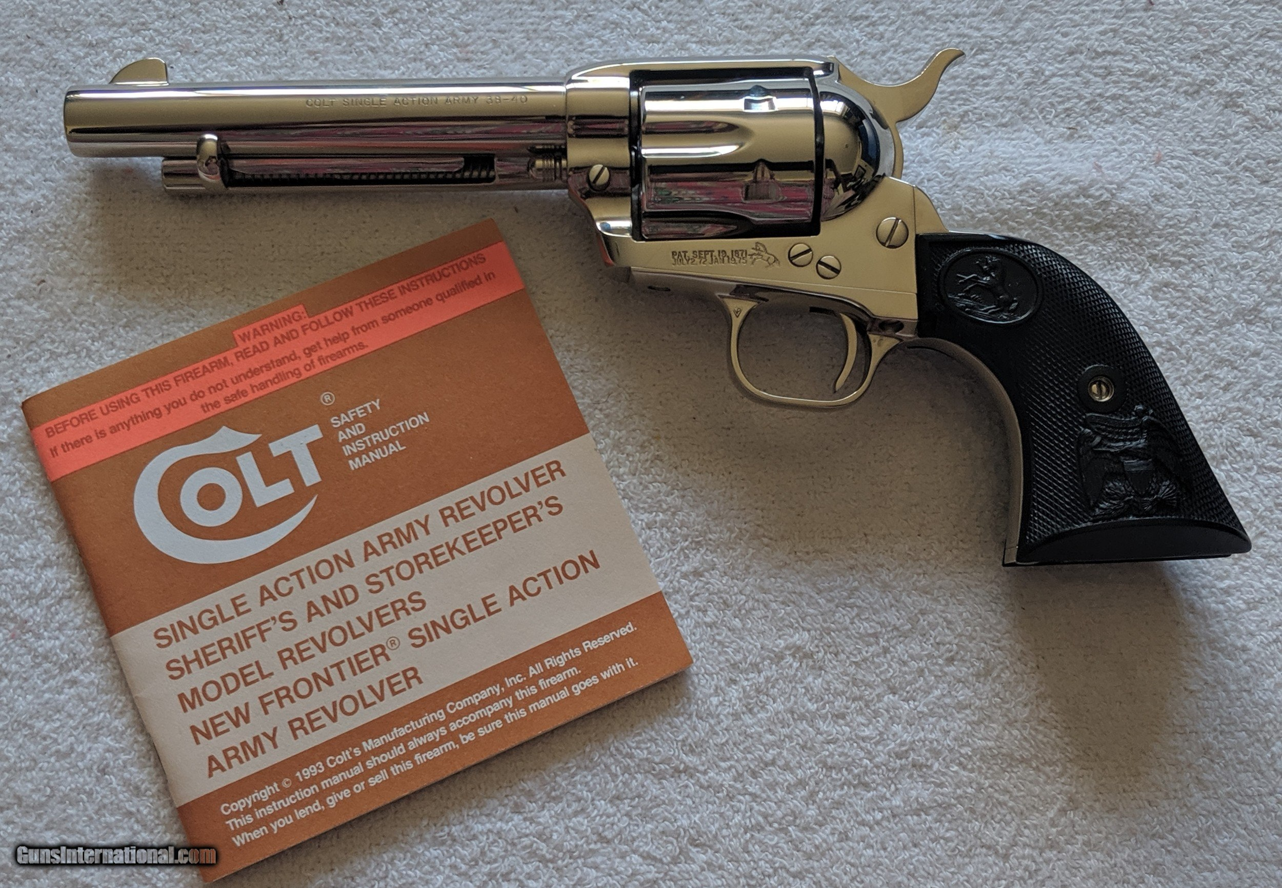 Colt Single Action Army Revolver-Owner/'s Manual
