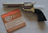 Colt SAA 3rd Gen 5.5 inch Nickel Plated .38-40 in factory box