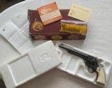 "Colt SAA 3rd Gen 45 LC, Full Blue, Factory Ivory, 7.5"" Black Powder Frame"