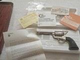 "Colt SAA 3rd Gen 4.75"" Nickel .44 Special NIB"