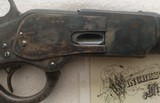 Winchester 1st Model 1873 Deluxe Rifle, 2X Wood, Factory Letter