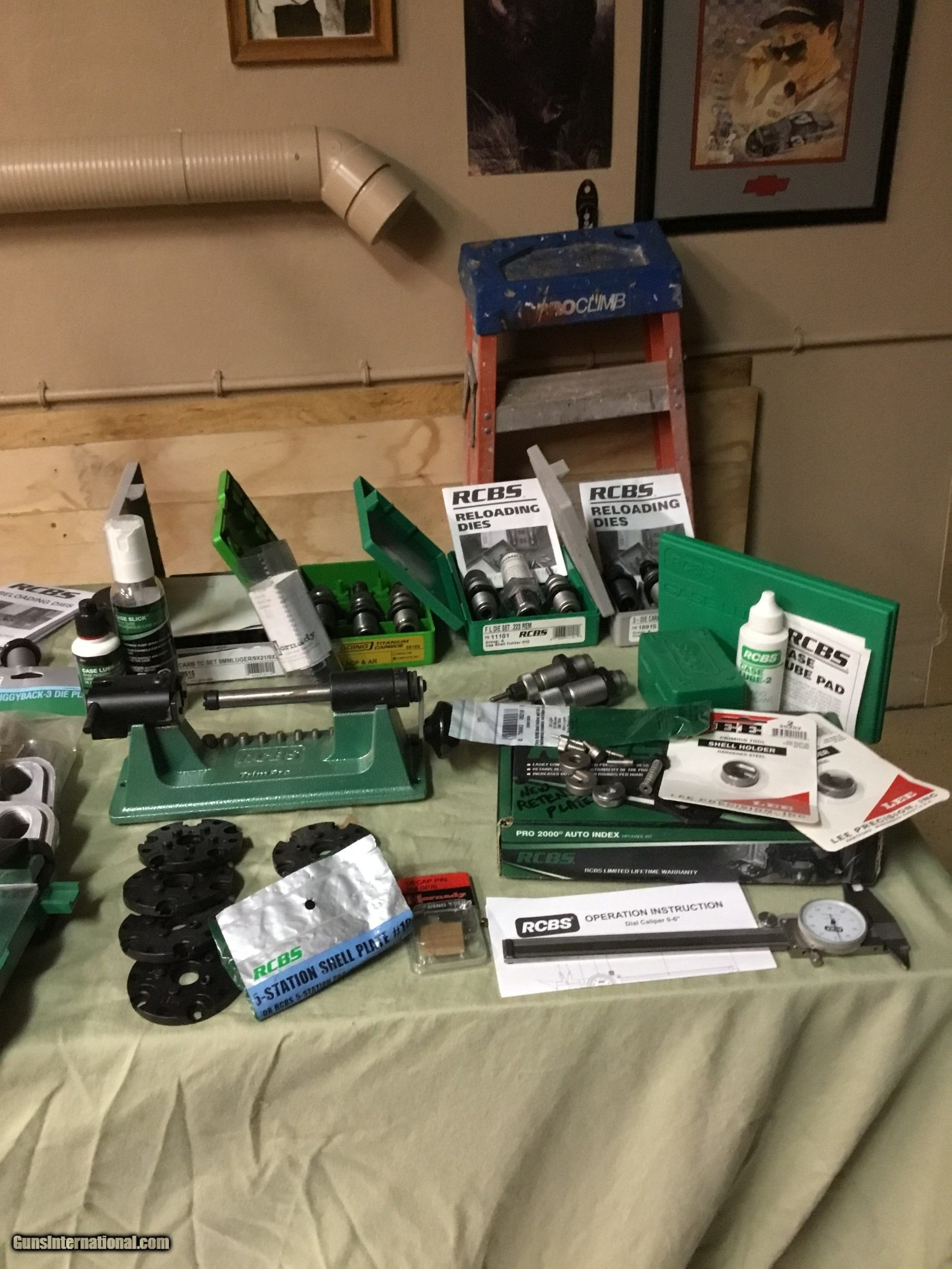 RCBS Reloading Equipment And Supplies, 6 Large Boxes Full for sale