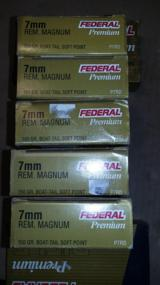 FEDERAL 7 MM REMINGTON MAGNUM 150 GR. BOAT-TAIL SOFT POINT