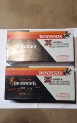 WINCHESTER 348 SILVERTIP BROWNING MODEL 71 COMMEMORATIVE AMMO