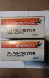 WINCHESTER 348 SILVERTIP BROWNING MODEL 71 COMMEMORATIVE AMMO - 2 of 2