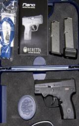 Beratta NANO 9 MM Pistol, comes with 2 magazines, 1-6 RD & 1-8 RD / NIB - 1 of 1