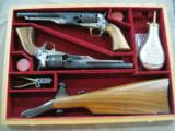 PIETTA COLT '60 ARMYS .44 CAL PRESENTATION GUNS - ANIB -