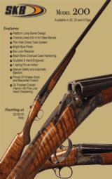 SKB MODEL 200 SIDE BY SIDE BOXLOCK SHOTGUN12,20,28,410 Ga- NEW -