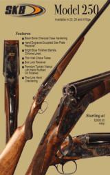 SKB MODEL 250 SIDE BY SHOTGUN W/SIDEPLATES - 20,28,410 GA -NEW- - 1 of 1