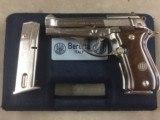 Beretta Model 84BB .380 Factory Nickel - 98%