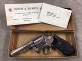 Smith & Wesson Model 13 .357 Revolver Nickel w/box