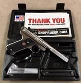 Ruger Mark II .22 Stainless Slabside 5.5 Inch Target - mint -