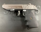 Sig Model P232 .380 Stainless Pistol - excellent -