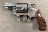 S&W Model 36 No Dash2 Inch .38 Special Nickel Revolver