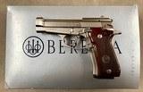 Beretta Model 84FS Cheetah .380acp Factory Nickel -ANIB-