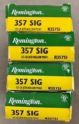 Remington .357 Sig 125 Grain JHP - 4 boxes of 50 rds