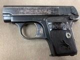Colt Model 1908 .25acp Pistol - excellent -