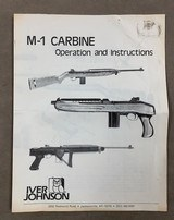 M-1 Carbine .30 cal Operating & Instruction Manual by Iver Johnson.