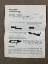 M-1 Carbine .30 cal Operating & Instruction Manual by Iver Johnson. - 2 of 2
