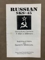 Russian SKS-45 Original Instruction & Safety Manual