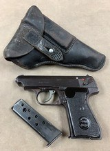 Sauer 7.65 WWII Pistol - Nazi Proofed, Holster, Spare Mag - Minty -