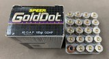 Speer .45 GAP Gold Dot 185 Grain GDHP - 5 Boxes (100 Rounds)
