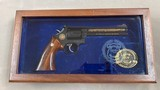 s&w model 586 cleveland police 150th anniversary model .357 engraved/gold - minty -
