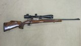 F N Belgium Model 98 Mauser Custom Bolt Action Rifle with Set Trigger in 220 Swift Caliber and 6X24-40 BSA Mildot Scope