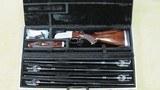 Krieghoff Model 32 O/U Shotgun with 4 Sets of Barrels (12,20,28,410) in Metal Case