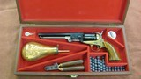 Confederate Navy Model 1860 Replica Revolver by Uberti in .44 Caliber Mfg. in 1966 in Solid Walnut Presentation Case
