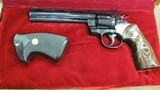 Colt Python with 6 Inch Barrel Manufactured in 1974 with Extra Grips All in Factory Colt Walnut Box with Colt Custom Logo Insert