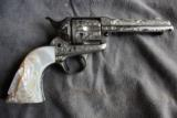 Colt SAA engraved with carved one piece pearl grips - 1 of 12