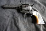 Colt SAA engraved with carved one piece pearl grips - 2 of 12