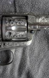Colt SAA engraved with carved one piece pearl grips - 6 of 12