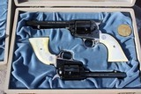 2 Colt Nevada Centennials in presentation boxes .22 Scout and 5 1/2 inbl - 2 of 26