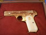 Colt Model 1903 Pistol Engraved and 24K Gold Plated