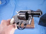 Colt Detective Special Engraved by John Adams jr. with Real MOP grips. High Quality piece. - 7 of 15