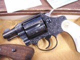 Colt Detective Special Engraved by John Adams jr. with Real MOP grips. High Quality piece. - 2 of 15