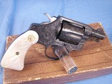 Colt Detective Special Engraved by John Adams jr. with Real MOP grips. High Quality piece. - 4 of 15