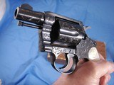 Colt Detective Special Engraved by John Adams jr. with Real MOP grips. High Quality piece. - 8 of 15