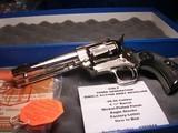 """Colt Custom Shop SAA Revolver .38-40 4.75"""" Nickel NIB"""