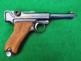 DWM GERMAN POLICE LUGER WITH SEAR SAFETY AND RARE UNIT MARKING, FOR ADVANCED COLLECTOR - 1 of 7